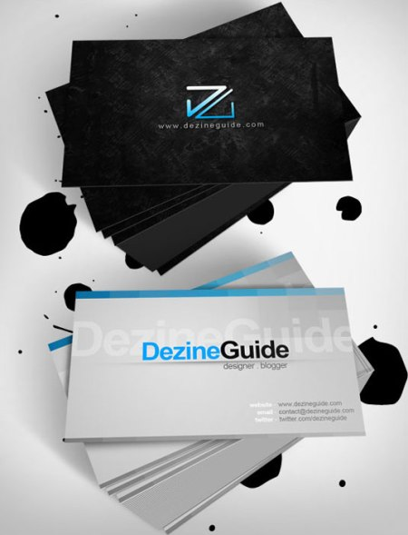 Dezine Guide 450x589 75 Best Free Business Card Templates Worth Downloading