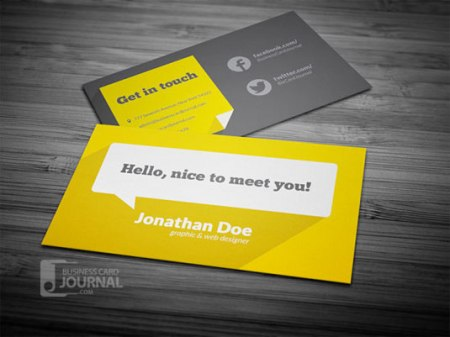 Flat design 450x337 75 Best Free Business Card Templates Worth Downloading