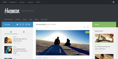 Hueman 450x225 75 Best Free Wordpress Themes of 2014 Till July