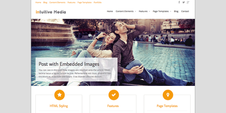 Intuition 450x225 75 Best Free Wordpress Themes of 2014 Till July