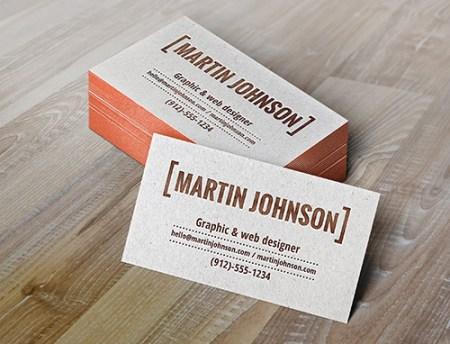 Letterpress Business Card Template 450x344 75 Best Free Business Card Templates Worth Downloading