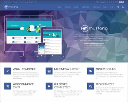 Mustang Free WordPress Theme