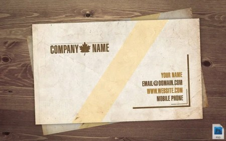 Old Vintage Business Card PSD 450x281 75 Best Free Business Card Templates Worth Downloading