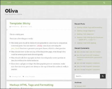 Oliva Free WordPress Theme