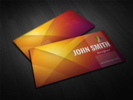 Orange Business Card Template 450x337 75 Best Free Business Card Templates Worth Downloading