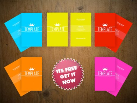 Pop colour 450x337 75 Best Free Business Card Templates Worth Downloading
