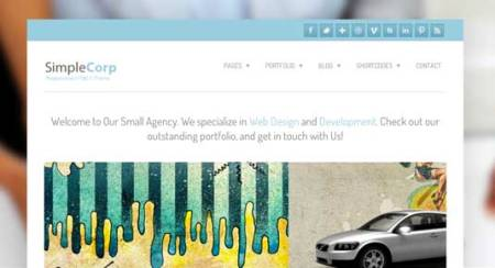 Simple Corp 450x244 75 Best Free Wordpress Themes of 2014 Till July