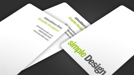 Simple Design Business Card PSD 450x253 75 Best Free Business Card Templates Worth Downloading