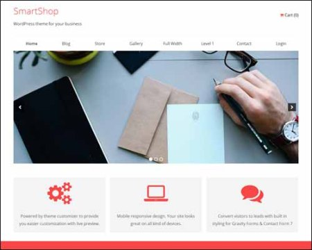 SmartShop Free Business WordPress Theme