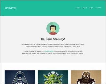 StanleyWP Twitter Bootstrap Free Flat WordPress Theme 450x360 75 Best Free Wordpress Themes of 2014 Till July