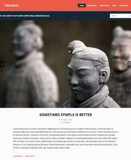 Thoughts 450x548 75 Best Free Wordpress Themes of 2014 Till July