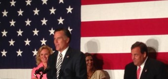Christie Goes National during Birthday Speech with Mitt Romney