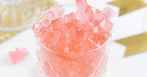 Rose' wine gummy bears Tendances : le retour du vin rosé... dans l'assiette