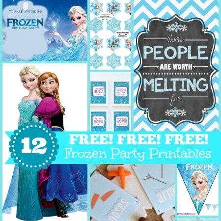 12 FREE Frozen Party Printables