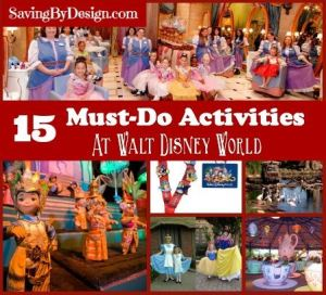 15 must-do activities at Disney World square