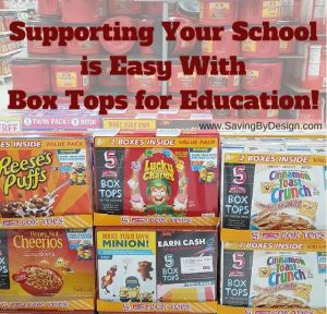 Supporting Your School with Box Tops for Education is Easy!