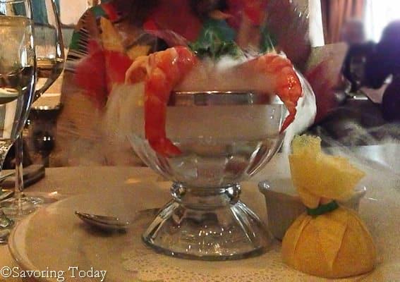 Shrimp Cocktail at Mastro's Ocean Club