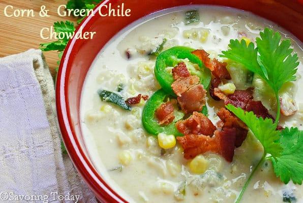 Corn & Green Chile Chowder   Savoring Today
