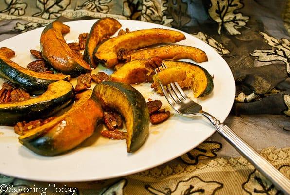 Acorn Squash w- Curry Spice & Pecans - one bite (1 of 1)