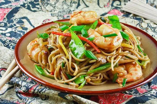Shrimp Lo Mein - Plated (1 of 1)