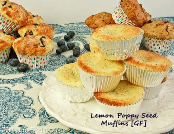 GF Lemon Poppy Seed Muffins | Savoring Today