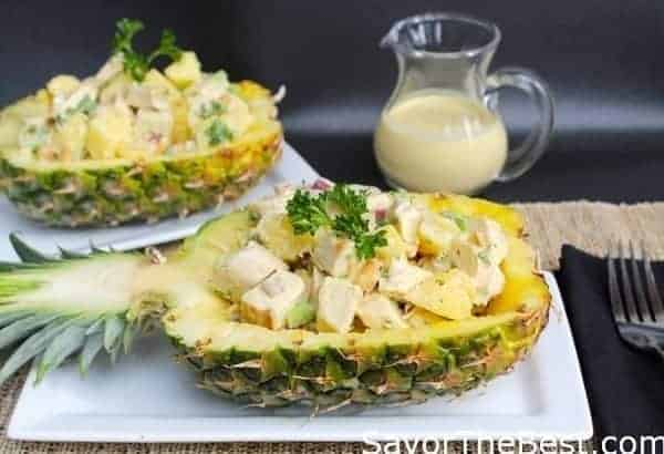 Pineapple-Chicken Salad with Curry Dressing