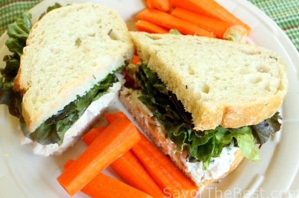 Rosemary Chicken Salad Sandwiich