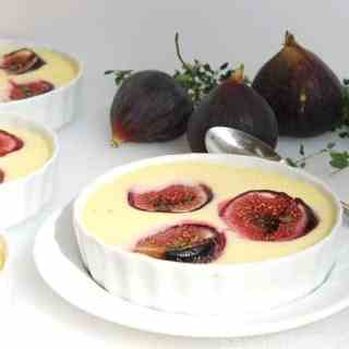 Goat Cheese Custard with Roasted Figs