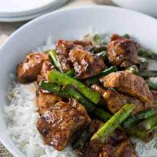 Black Pepper Chicken and Asparagus Stir Fry  dsc_0116