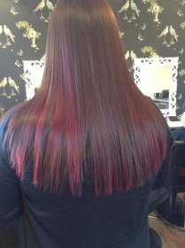Long hair colour and straightening