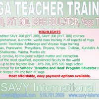 London Yoga Teacher Training at SAVY