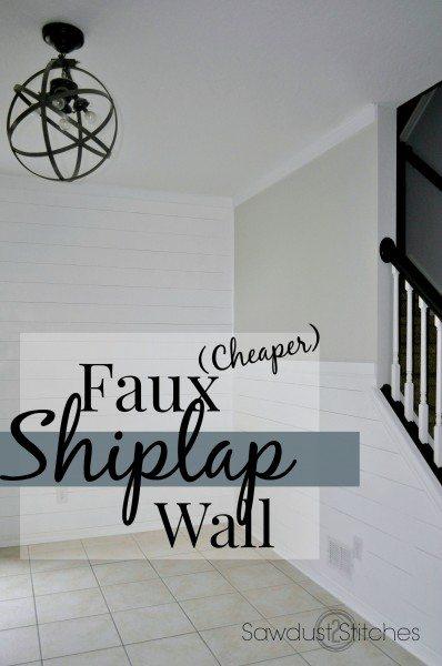 Faux Shiplap Walls