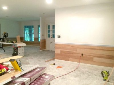 Covering Wallpaper with Faux Shiplap - Sawdust 2 Stitches