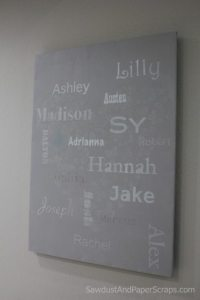 Grandchild names - Subway Art - gift idea