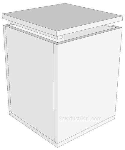 Organization Tips DIY Storage Ottoman Step 4b