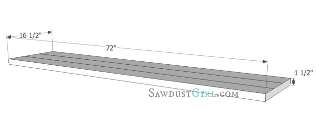 X leg bench plans at SawdustGirl.com