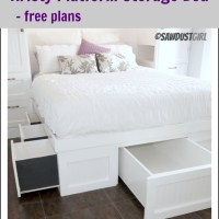 Queen Platform Storage Bed-Kristy Collection