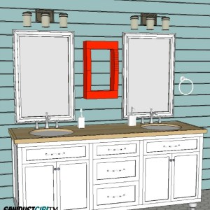 bathroom vanity with undermount sinks