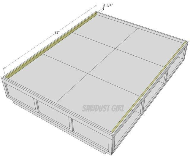 Queen Size Platform Storage Bed Plans Sawdust Girl