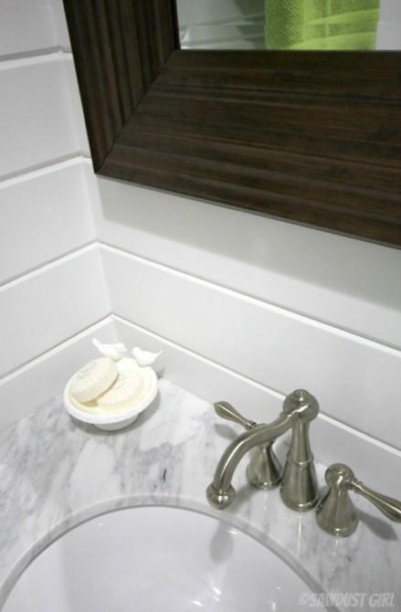 Powder Room Reveal - SawdustGirl.com