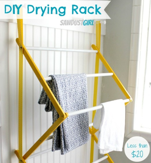 DIY Drying Rack from http://sawdustgirl.com