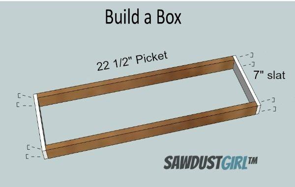 build bath caddy box