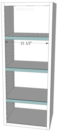 "Free plans for the ""Madison Avenue Bookcase"" from www.sawdustgirl.com."