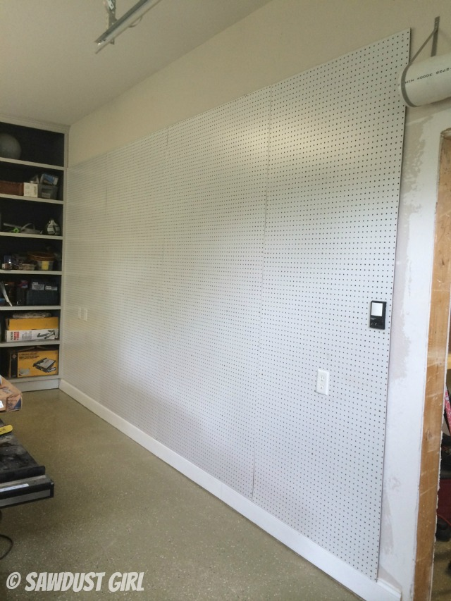 how to create a pegboard organization wall sawdust girl. Black Bedroom Furniture Sets. Home Design Ideas