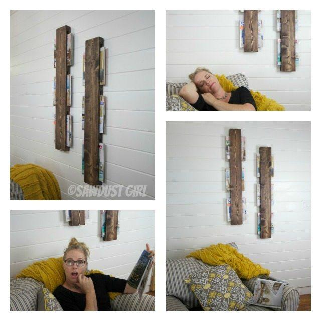 Awesome $5 wood Magazine rack tutorial