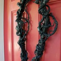 Spooky Halloween Decor - Coffin Wreath