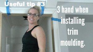 Useful tip for installing trim moulding.