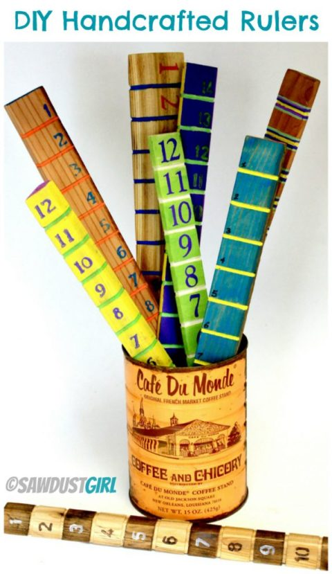 Handcrafted Rulers - Great DIY gift idea!