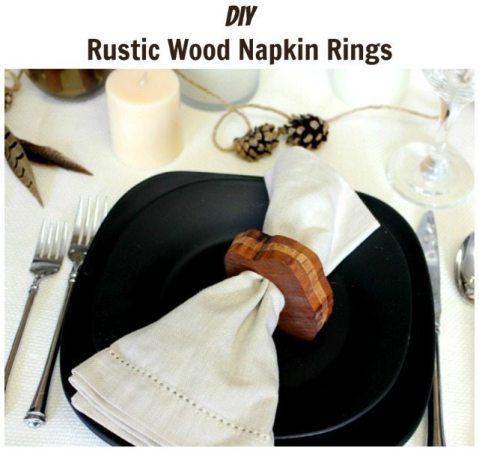 DIY Rustic Wood Napkin Ring