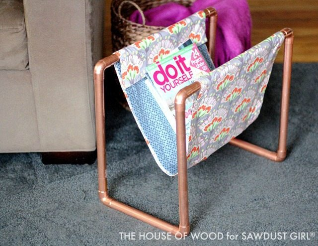 DIY Copper Pipe Magazine Rack